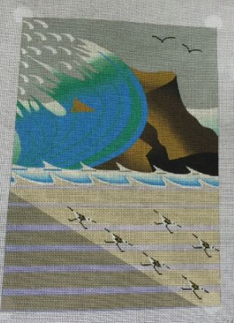 click here to view larger image of Wave (hand painted canvases)