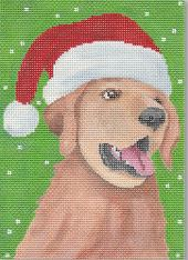 click here to view larger image of Christmas Golden Retriever (hand painted canvases)