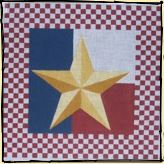 click here to view larger image of Checkerboard Star (hand painted canvases)