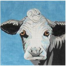 click here to view larger image of Cow On Blue (hand painted canvases)