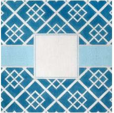 click here to view larger image of Blue Geometric SquaresPillow (hand painted canvases)