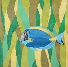 click here to view larger image of Blue Fish (hand painted canvases)