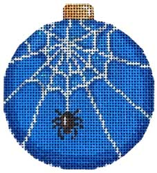 click here to view larger image of Spider Web Ball Ornament (hand painted canvases)