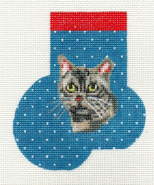 click here to view larger image of American Shorthair Mini Sock (hand painted canvases)