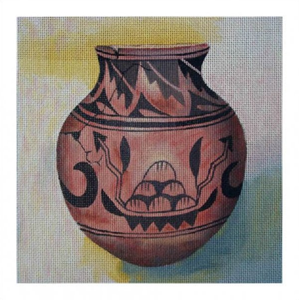 click here to view larger image of Big Mountain Jar (hand painted canvases)