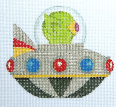 click here to view larger image of Flying Saucer no. 1 (hand painted canvases)