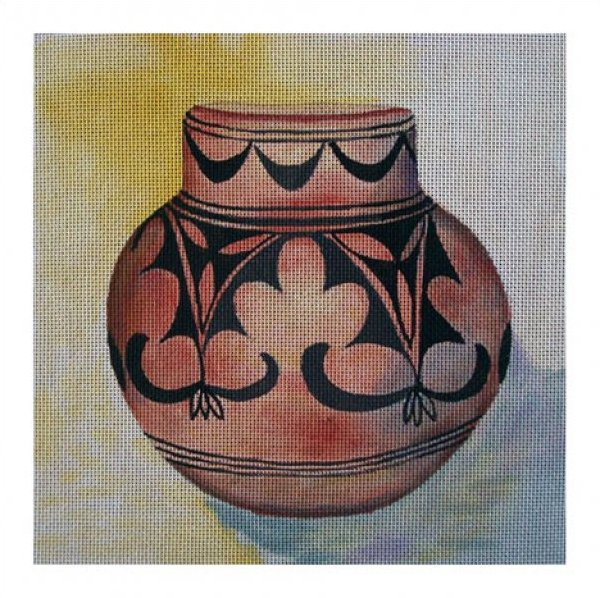 click here to view larger image of Pueblo Pot (hand painted canvases)