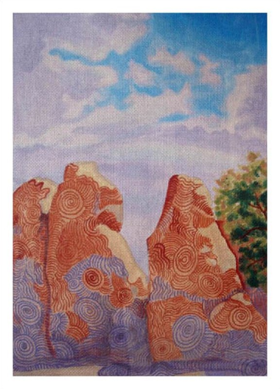 click here to view larger image of City of Rocks (hand painted canvases)