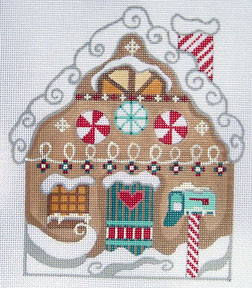 click here to view larger image of Gingerbread House Stitch Guide (books)