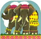 click here to view larger image of Elephants - Fancy 3D Ark Collection (hand painted canvases)