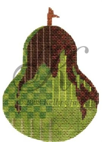 click here to view larger image of Dark Chocolate Drizzle Pear Ornament Stitch Guide (books)