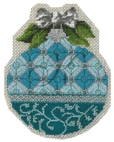click here to view larger image of March Aquamarine Ornament Stitch Guide (books)