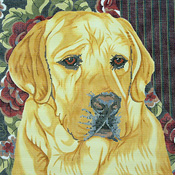 click here to view larger image of Yellow Lab/Floral Bkgd (None Selected)
