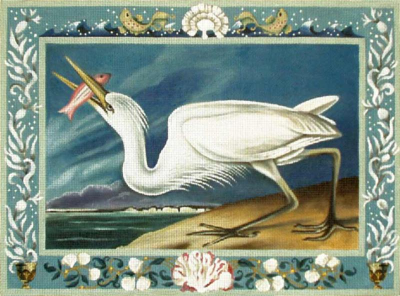click here to view larger image of White Heron (hand painted canvases)