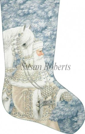 click here to view larger image of Enchanted Santa Stocking (hand painted canvases)