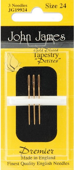 click here to view larger image of John James Gold Plated Tapestry Petite Needles (accessories)