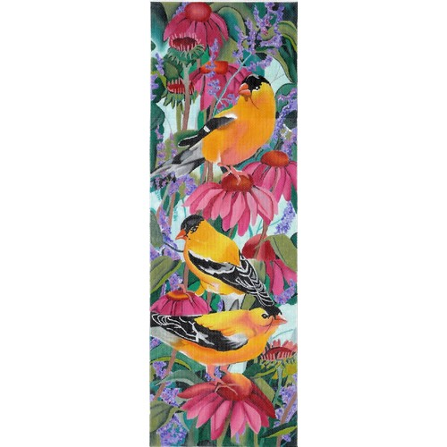 click here to view larger image of Melody of the Gold Finch (hand painted canvases)
