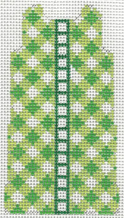 click here to view larger image of Green Gingham Mini Shift -18M (hand painted canvases)
