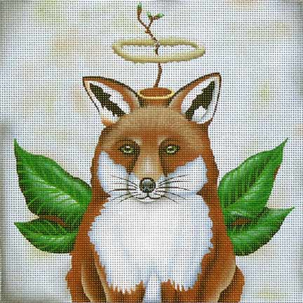 click here to view larger image of Angel Clarence the Fox  (hand painted canvases)