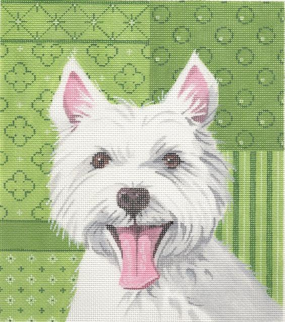 click here to view larger image of Westie (hand painted canvases)