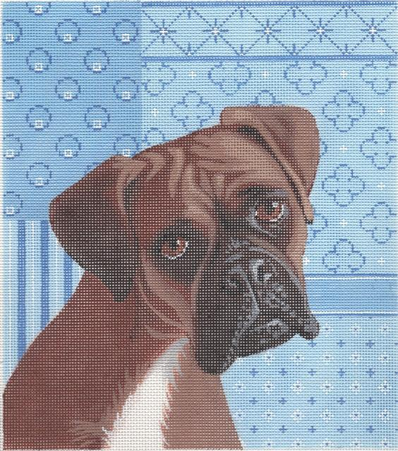 click here to view larger image of Boxer (hand painted canvases)
