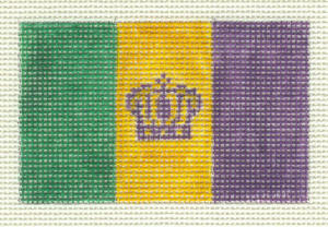 click here to view larger image of Mardi Gras Flag (hand painted canvases)