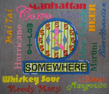 click here to view larger image of 5 O'Clock Somewhere (hand painted canvases)