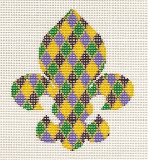 click here to view larger image of Fleur de Mardi Gras (hand painted canvases)