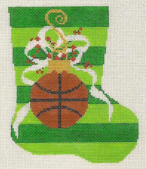 click here to view larger image of Mini Stocking - Basketball (hand painted canvases)