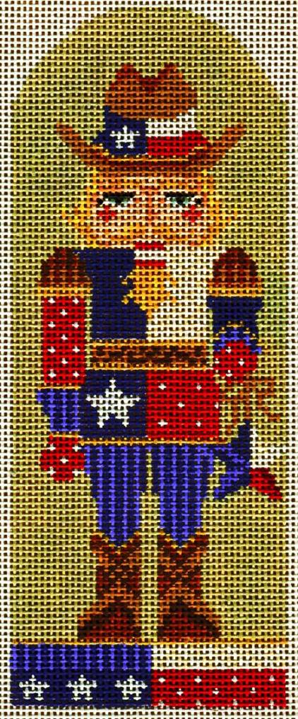 click here to view larger image of Texas Cowboy Nutcracker (hand painted canvases)