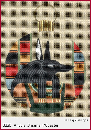 click here to view larger image of Anubis Ornament Coaster (hand painted canvases)