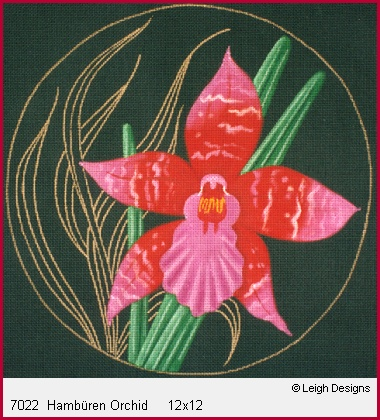 click here to view larger image of Hamburen Orchid (hand painted canvases)