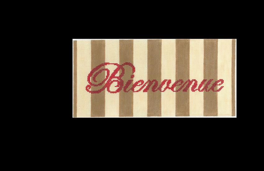 click here to view larger image of Bienvenue - 13ct (hand painted canvases)