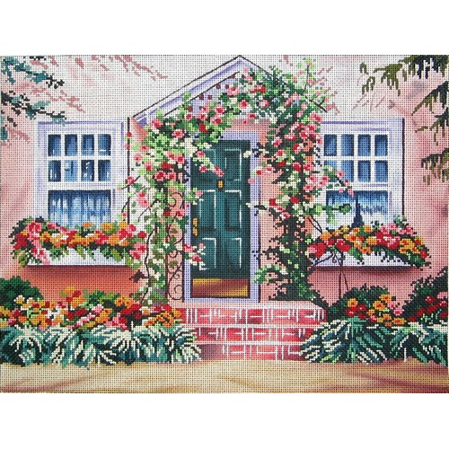 click here to view larger image of Roses Out Front (hand painted canvases)