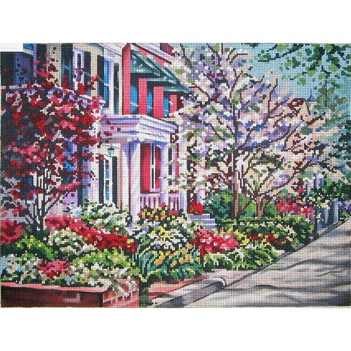 click here to view larger image of Spring on the Avenue (hand painted canvases)