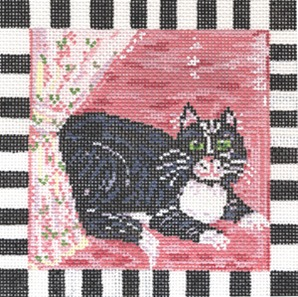 click here to view larger image of Clinton Cat (hand painted canvases)