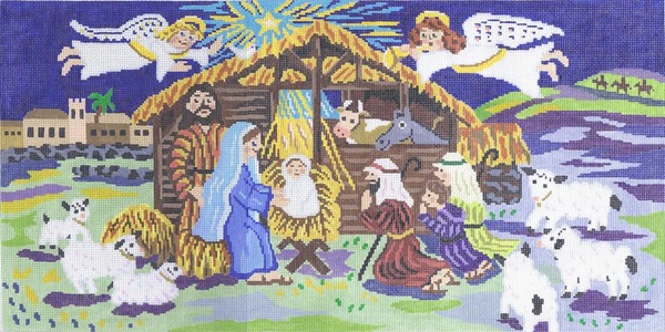 click here to view larger image of O Holy Night (hand painted canvases)