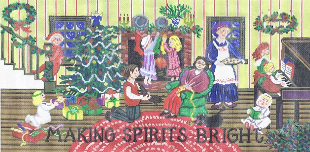 click here to view larger image of Making Spirits Bright (hand painted canvases)