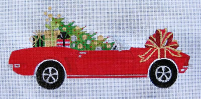 click here to view larger image of 1969 Christmas Mustang (Red) (hand painted canvases)