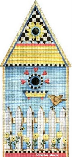 click here to view larger image of Bird and Bee House (hand painted canvases)
