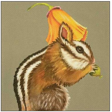 click here to view larger image of Poppy Chipmunk (hand painted canvases)