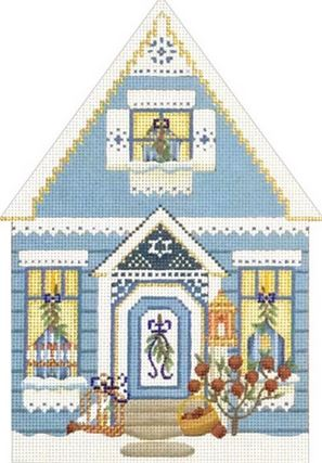 click here to view larger image of Hanukkah House (hand painted canvases)