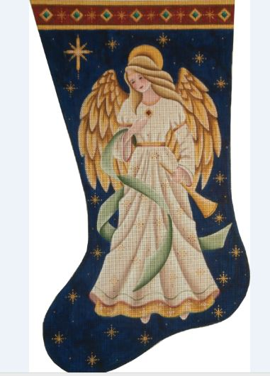 click here to view larger image of Adoring Angel Stocking - 18ct (hand painted canvases)