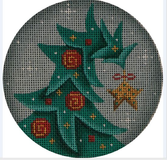click here to view larger image of Tipsy Tree Ornament (hand painted canvases)