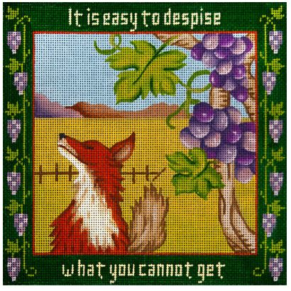 click here to view larger image of Fox & the Grapes (hand painted canvases)