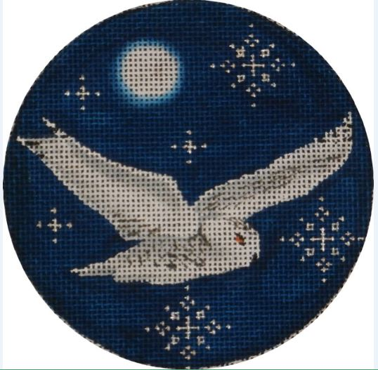 click here to view larger image of Arctic Owl Ornament (hand painted canvases)