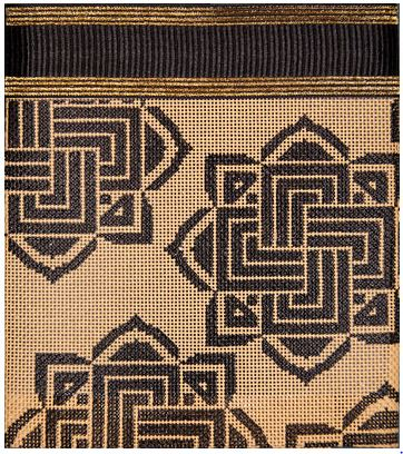 click here to view larger image of Black Celtic Knots on Camel Purse (hand painted canvases)