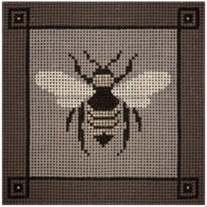click here to view larger image of Bee In Taupe (hand painted canvases)