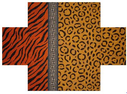 click here to view larger image of Leopard & Tiger Skin Brick Cover (hand painted canvases)