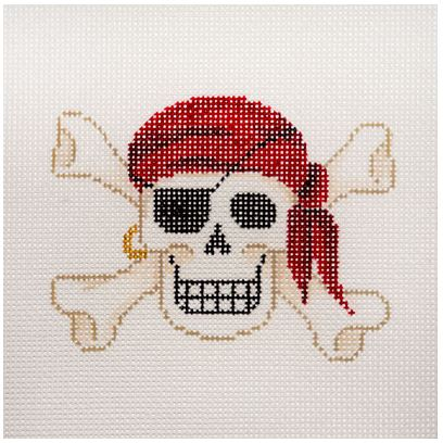 click here to view larger image of Pirate Skull & Crossbones (hand painted canvases)